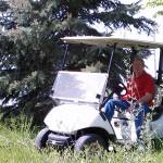 Dad in Golf Cart