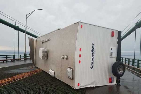 Mackinac Bridge RV Trailer Accident