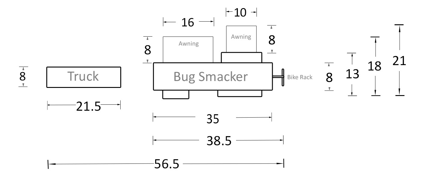 Bug Smacker Dimensions